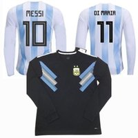 2018 Argentina Long sleeve soccer Jersey Argentina MESSI DYB...