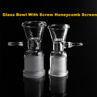 Glass Bowl For Bongs With Screw Honeycomb Screen 14mm 14. 5mm...