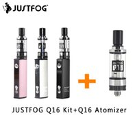 JUSTFOG Q16 Kit VS Q16 Tank Vape Pen Mini Kit 2.0ml Tank 510 / eGo Thread 900mah Аккумулятор Встроенная сигарета E VS JUSTFOG P16A