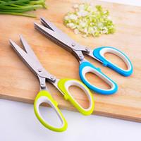 Paslanmaz Çelik Mutfak Bıçakları 5 Katmanlı Makas Rendelenmiş Kesim Herb Makas Baharat Makas Mutfak Makas Rendelenmiş