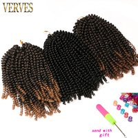 Crochet Braids Hair Extensions VERVES 8 inch, 30strands pack ...