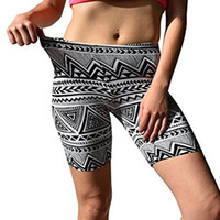 Femmes Print Sport Pantalon Soft Brossé Active Stretch Yoga Bike Short Pantalon Mallas deporte Mujer Pantalon Yoga Femme Cordon