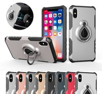 Coque Defender Kickstand pour iPhone XR XS MAX 7 Plus 8 X 5S Samsung Note 9 S9