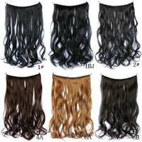 2018 fashion Hair pieces new fish line hair curtain long hai...