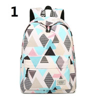 Schoolbag Canva+Oxford fabric Backpack Leisure fashion Striped backpack Outdoor travel bags High-capacity Knapsack Laptop Backpacks A35