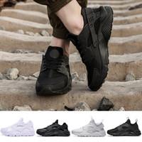 Nouveau 2018 Huarache 1.0 4.0 Chaussures De Course Pour Hommes Femmes, Triple Noir Blanc Rouge Amour Hate Pack Huaraches Jogging Baskets De Sport
