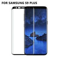 10 unids venta al por mayor protector de pantalla de la cubierta completa 3D vidrio templado para Samsung galaxy S9 S9 Plus película protectora para Samsung S8 S8 Plus