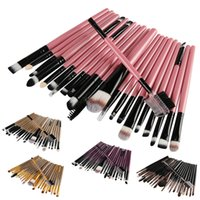 Professional 22Pcs Makeup Brushes Set Portable Plastic Makeu...