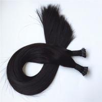 Elibess Marka-100% İnsan Saç Uzantıları ben İpucu saç 0.5g / s100g 200 Ipliklerini 14 16 18 20 22 24 inç Düz Hint remy saç daha renkler