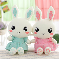 2018 New Cute Wearing dress Rabbit plush toys bunny Stuffed ...