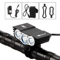 Lampes de vélo Solarstorm X3 3x XM-L T6 LED 7000Lm avant rechargeable lampe torche vélo 18650 batterie + chargeur C18110701