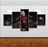 5 piece Canvas Painting Argentina Lionel Messi canvas poster...