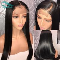 Bytherair 아기 머리를 가진 전체 레이스 가발 100 % 처리되지 않은 브라질 버진 인간의 머리 가발 흑인 여성 레이스 프런트 가발