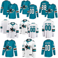 Hombres, mujeres, niños, juveniles, en blanco San Jose Sharks 88 Brent Burns 8 Joe Pavelski 19 Joe Thornton 39 Logan Couture Aaron Dell Hockey Jerseys