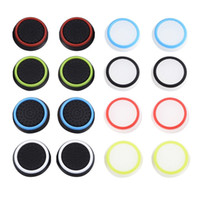 Two- Color Silicone Joystick Cap Thumb Grip Stick Grips Caps ...