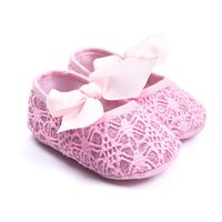 2018 Cute Pink Newborn Baby First Walkers Shoes Soft Sole In...