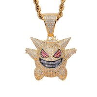 Hip Hop Iced Out Gold Silver Plated Micro Pave Cubic Zircon ...