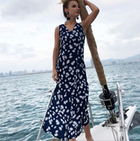 Women Summer Floral Print Maxi Dress Boho Style Beach Dress ...