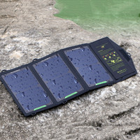 Freeshipping 5V10 / 18 / 21W Sunpower Солнечное зарядное устройство панель солнечных батарей водонепроницаемый USB складной быстрое зарядное устройство встроенный смарт-чип панели
