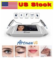 US Stock! ArtMex V8 Digital Permanent Makeup Tattoo Machine Eyes Rotary Pen 2 i 1 mts PMU System Pekskärm
