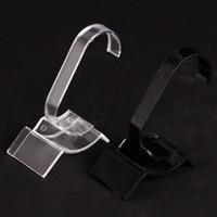 20 Porte-présentoir en plastique noir / transparent