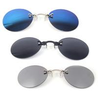 NoEnName Null Retro Sunglasses Round Vintage Unisex Eyewear Mirror Nose  Clip Mini Metal Goggle para hombres venta c008908e9b92
