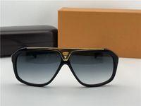 Lüks Erkek Pilot Kanıt Güneş Gözlüğü Siyah Altın Gri Lens Tasarımcı Güneş Gözlüğü Gözlük Yepyeni Kutu