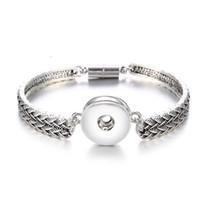 Magnet Bohemian Armband Uhren Frauen Schmuck One Direction Pulseras Neueste Vintage 18mm Metall Druckknöpfe Armband