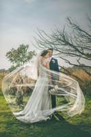 A buon mercato in magazzino immagine reale immagine bianco avorio semplice lungo veli da sposa lungo tulle veli lunghi per eventi di nozze tulle net velo 1,5 * 3m lungo uno strato
