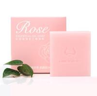 gros savon à la main pas cher rose savon à l'huile essentielle de traitement OEM A379 de savon nettoyant hydratant blanc brillant