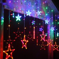 Romantico Star LED String Fairy Lights Tenda Home Holiday Lamp Ghirlanda Party Natale Decorazione di nozze