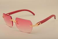 dos homens quentes e femininas 8100906 óculos de sol de madeira maciça decorativos de madeira óculos de sol quadro tudo natural sólida óculos de sol de madeira Tamanho: 56-18-135mm