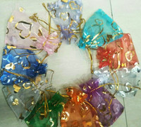 500PCS LOT MIX HEART Organza Wedding Party Favor Decoration ...