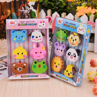 NOVERTY 1box Kawaii Animal Pencil Eraser Cute Colorful Panda...