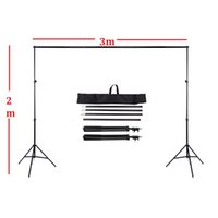 2 х 3м 6.6FT X 9.8ft Регулируемая подставка Backdrop Система поддержки Перекладина Kit Set Фото Фон для Муслин фоны фото студии