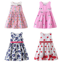 AiLe Rabbit summer baby girl floral A- Line dress girls strip...