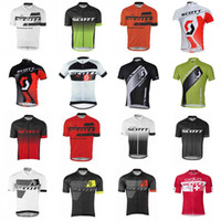 SCOTT team Cycling Short Sleeves jersey cycling jersey 100% ...