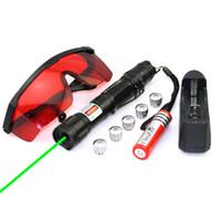 SDlasers GS9-0050 Puntatore laser verde 532nm con 1 * 18650 Li Battery 5 * Star Cap Charger Occhiali divertenti Pet stick Giocattoli per gatti per bambini
