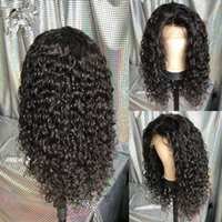 "250% de densidade pré-arrancada 360 perucas frontais de renda 10 ""-22"" onda de água brasileira dianteira de pêlo humano perucas de cabelo bebé"