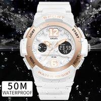 Спортивные часы для женщин SMAEL женские часы повседневная светодиодные цифровые белые часы женщина элегантный relojes mujer женские часы водонепроницаемый Y18102310