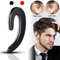 Mini Wireless Bluetooth Earphone Stereo Headset Earhook Bone Conduction Bluetooth-наушники Нет Earplugs с микрофоном для Samsung iPhone X 8 Plus