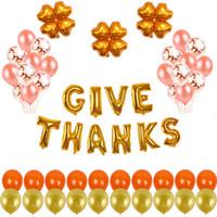 Thanksgiving Day Confetti Paillettes Set di palloncini trasparenti per la decorazione della sala da sposa decorazione festa di compleanno festival fornitori