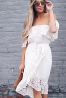 Белый Sexy Пром платья шифон с плеча кружева Элегантный Длинные вечерние Формальное платье для женщин