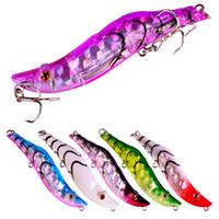 새로운 ABS 플라스틱 레이저 새우 모양 fishbaits은 14.7g Lipless 문어 전체 수영 계층 낚시 미끼를 8.2cm