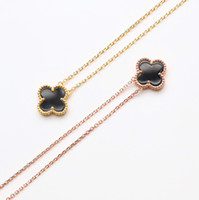 Luxury Necklaces 18k Clover necklace black gemstone pendant ...