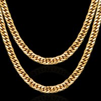 2018 Fashion Men Women 18k plated Necklace 6mm 8mm 24inch Ex...