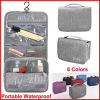 Makeup Bag Cosmetic Organizer bags with Hook Wash bag 6 Colo...