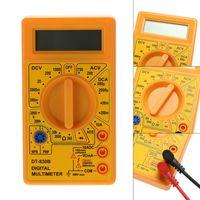 DT-830B Digital-Multimeter LCD AC / DC 750/1000 V Ampere Elektrische Volt Ohm Meter Tester Multimeter Gelb / Schwarz Farbe