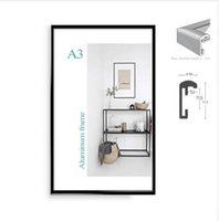 Classique minimaliste A4 A3 cadre d'affichage pour cadre de certificat de cadre de cadre photo en métal
