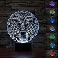 3D 레알 마드리드 축구 램프 밤 빛 터치 테이블 책상 착시 램프 7 색 변경 조명 홈 장식 크리스마스 생일 선물